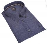 Chemise hiver Fashion bleu 3XL à 6XL