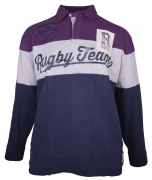 Polo Rugby manches longues Raisin Gris Marine