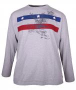 T-shirt manches Longues Rugby gris chiné 3XL à 8XL