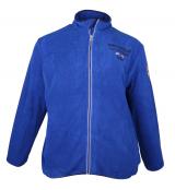 Sweat polaire bleu motif Nautique