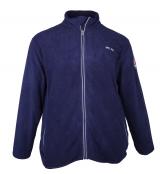 Sweat polaire bleu marine motif Nautique