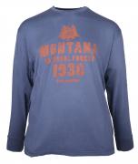 T-shirt manches longue simprimé bleu pétrole de 3XL à 8XL