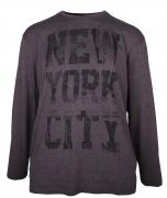 T-shirt manches Longues NewYork gris foncé 3XL à 8XL