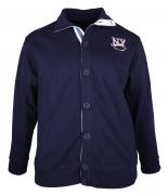 Veste Boutonnée bleu marine de 3XL à 8XL