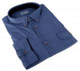 Chemise manches longues bleu denim de 3XL à 8XL