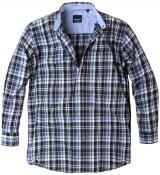 Chemise manches longues carreaux Noir blanc violet de 3XL à 5XL
