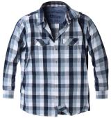 Chemise manches longues carreaux Noir blanc gris bleu de 2XL à 7XL