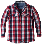 Chemise manches longues carreaux Noir blanc rouge de 2XL à 7XL