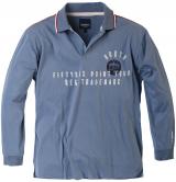 Sweat col Polo bleu de 2XL à 7XL