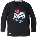 T-shirt manches longues Noir de 3XL à 5XL