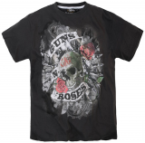 T-shirt rock Guns'n Roses manches courtes noir 3XL à 8XL
