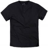 T-shirt col boutonné noir de 3XL à 8XL