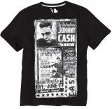 T-shirt rock Johnny Cash manches courtes noir 3XL à 8XL
