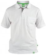Polo piqué blanc Col boutonné de 3XL à 8XL