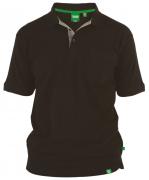 Polo piqué noir Col boutonné de 3XL à 8XL