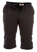 Bermuda noir ceinture élastique de 3XL à 6XL