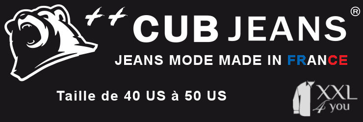 xxl4you - Cub Jeans - Jeans mode grande taille pour homme