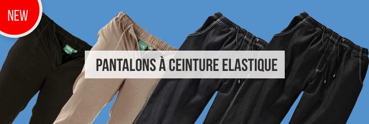 xxl4you - pantalon à ceinture élastque grande taille pour homme